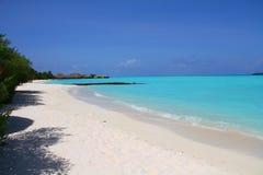 Maldiverna ökenstrand Royaltyfria Foton