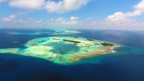 Maldiverna flyg- sikt Arkivfoto