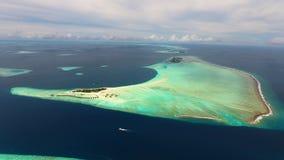 Maldiverna flyg- sikt Royaltyfri Fotografi