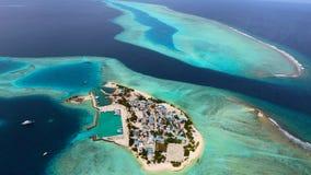 Maldiverna flyg- sikt Royaltyfri Bild