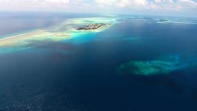 Maldiverna flyg- sikt Arkivbilder