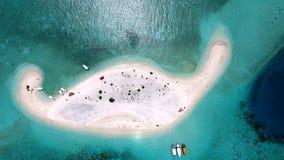 Maldiverna flyg- sikt Fotografering för Bildbyråer