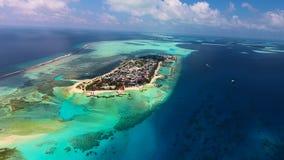 Maldiverna flyg- sikt Arkivbild