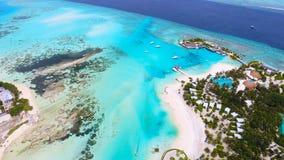 Maldiverna flyg- sikt Royaltyfri Foto
