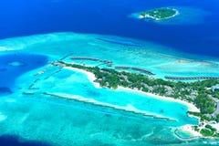 Maldiverna fullmånesemesterort Royaltyfria Bilder