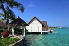 Maldiverna havsvilla Royaltyfri Fotografi