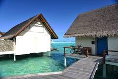 Maldiverna havsvilla Arkivbilder
