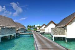 Maldiverna havsvilla Arkivfoton
