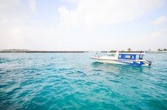 Maldiverna pir Fotografering för Bildbyråer