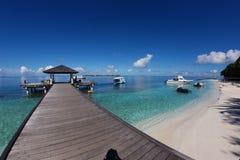 Maldiverna pir Arkivfoto