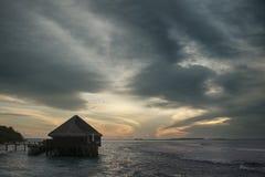 Maldiverna seasight Royaltyfria Foton