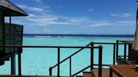 Maldiverna solSiam irufushi arkivbilder