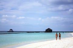Maldiverna strand Royaltyfri Fotografi