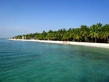 Maldiverna strand Royaltyfria Foton