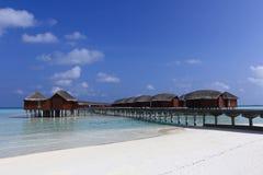 Maldiverna strandbro Royaltyfri Bild