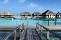 Maldiverna villa Fotografering för Bildbyråer