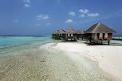 Maldiverna villa Arkivfoton