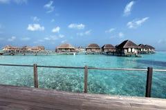 Maldiverna villa Royaltyfri Bild