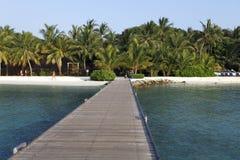 Maldiverna villa Royaltyfri Fotografi