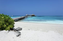 Maldiverna villa Royaltyfria Foton
