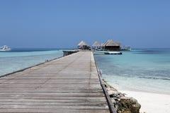 Maldiverna villa Arkivbild