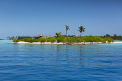 maldives Île tropicale Station de vacances de villas de l'eau Image libre de droits