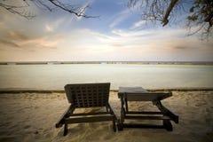 Maldives. Sunset at Maldives, north Ari Atoll Royalty Free Stock Photo