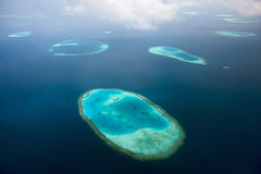 Maldives from above Royalty Free Stock Photography