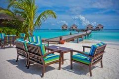 Maldives adaaran prestige vadoo. Nice summer blue sky in maldives Stock Photo