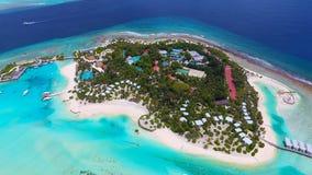 Maldives aerial view Royalty Free Stock Photos