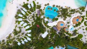 Maldives aerial view Stock Photos