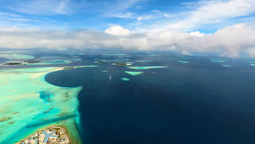 Maldives aerial view Royalty Free Stock Images