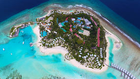 Maldives aerial view Royalty Free Stock Photography