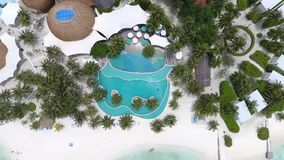 Maldives aerial view stock footage