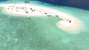Maldives aerial view stock video footage