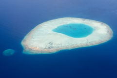 Maldives aerial view landscape Royalty Free Stock Image