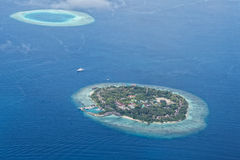 Maldives aerial view landscape Stock Image