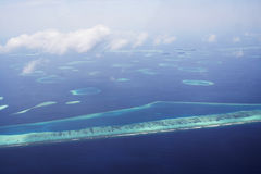 Maldives from air Stock Image