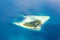 Maldives atoll resort view. stock photography