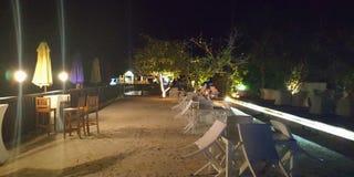 Maldives bar. Night stock images