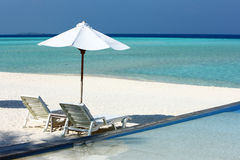 Maldives beach Royalty Free Stock Image