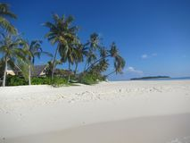 Maldives beach impression - postcard style Royalty Free Stock Image