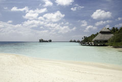 Maldives Beach. Nice view from a maldivian beach on the resort Stock Image