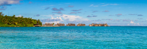 Maldives beach panorama under the blue sky Stock Photography