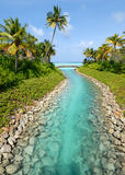 Maldives beach resorts Royalty Free Stock Photos