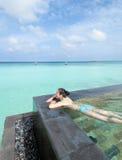 Maldives beach resorts royalty free stock photography