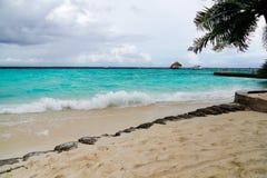 Maldives beach, waves and sky Royalty Free Stock Photography
