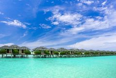 Maldives buildings in water Stock Image