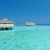Maldives bungalows Stock Images