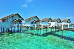 Maldives bungalows Stock Photos